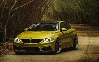 Обои BMW M4 Coupe Austin Yellow, Austin Yellow, BMW, BMW M4