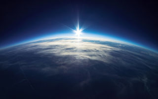 Обои planet earth, sun, light, life, space