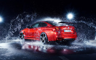 Обои BMW, M4, AC-Schnitzer, Car, Rear, Red, Water, German