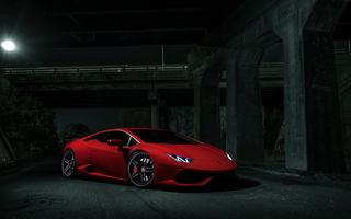 Обои Lamborghini, Red, Exotic, Dark, Supercar, Ligth, LP640-4, V10, Huracan