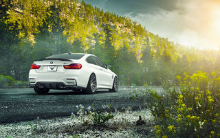 Обои BMW, Rear, White, V-FF, F82, 102, M4, Vorsteiner, Car, Wheels