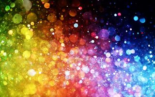 Обои bokeh, abstract, rainbow, lights, colorful, огни, цвет