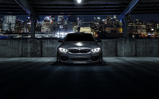 Обои BMW, Carbon, F80, Nigth, Mode, Black, Front, Matte, M3