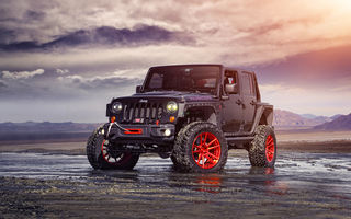 Обои Jeep, Wrangler, Custom, Forged, Track, Wheels, Red, Front, ADV1, Function