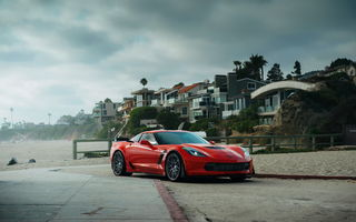 Обои Chevrolet Corvette, red, car, Z06