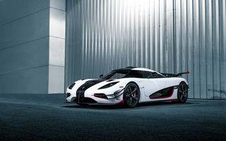 Обои Koenigsegg, white, One