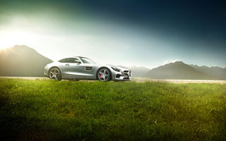 Обои Mercedes-Benz, Grass, AMG, Ligth, Sun, GT S, Exotic, Supercar