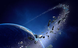 Обои space junk, planet, technology, metal