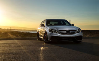 Обои Mercedes-Benz, Front, Car, Sonic, Sunset, Matte, Grey, Carbon, E63, Motorsport, Mode, AMG S, Ligth