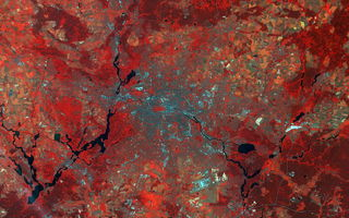Обои Earth From Space, Germany, Sentinel-2A, Berlin