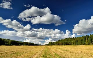 Картинка Nature, Field, Clouds, Sky