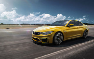 Обои BMW, Car, Yellow, F82, M4, German, Speed, Front