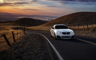 Обои BMW, Garde, Car, Front, Sunset, Avant, Wheels, Mountains, Sunrise, San Jose, M235i