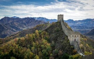 Картинка China, Great Wall, windy and autumn day, Jinshanling, sunny, Hebei