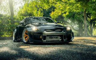 Обои Nissan, Rocket, R35, GT-R, Front, HRE, Wheels, Bunny
