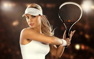 Обои tennis, racket, woman
