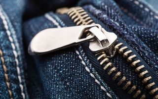 Обои metal zipper, fabric, jeans