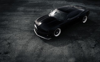 Обои Chevrolet, Matte, ZL1, Top, Car, Stance, Front, Camaro, Black, Muscle