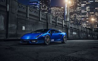 Обои Lamborghini, Vorsteiner, Wheels, Blue, Gallardo, V-FF, Supercar, Front, 105, Wheels