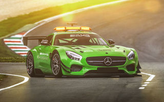 Обои mercedes, amg, hugo silva, green, tuning, gt, safety car