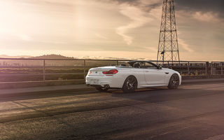 Обои BMW, White, Strasse, M6, Wheels, Forged, Convertible, Rear