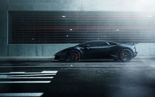 Обои Lamborghini Huracan, hq, William Stern, street, black, car