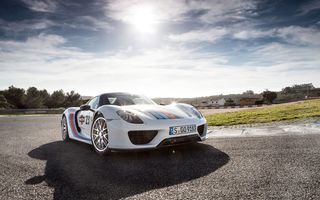 Обои porsche, supercar, hq, солнце, estoril, 918 spyder