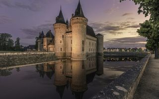 Обои France, Sully-sur-Loire, Reflection, Castle