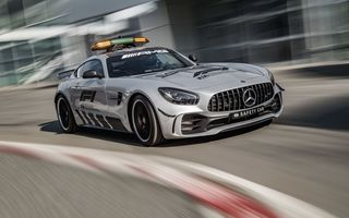 Картинка Мерседес-Бенц, Mercedes - Benz, 2018, машина безопасности, Формула 1, Mercedes - AMG GT R Official F1 Safety Car
