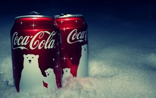 Картинка snow, баночка, кока-кола, снег, coca-cola, coke, jar