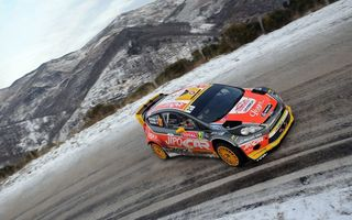 Картинка гонка, fiesta, race, wrc, rally, monte-carlo, ford