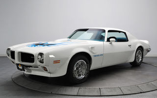 Обои автомобиль, pontiac, 1973, белый, trans am, firebird, понтиак