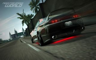 Обои тюнинг, гонка, need for speed world, toyota supra, дорога