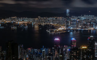 Обои china, panorama, hong kong, city