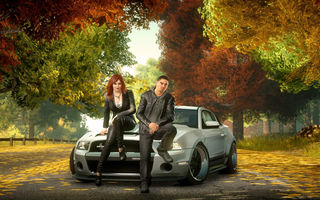 Картинка sam jack, ford mustang, need for speed the run, осень, машины