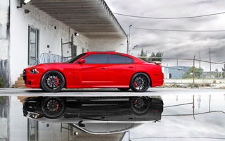 Картинка додж, dodge charger srt8, dodge charger daytona, красная машина, dodge charger daytona 2015, dodge charger