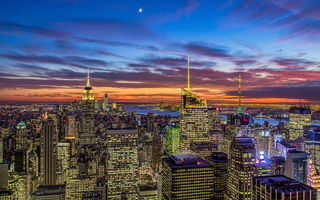 Обои new york city, nyc, theatre district, manhattan, usa, new york, empire state building