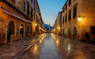 Обои dubrovnik, sunrise, хорватия, stradun, croatia, дубровник