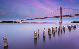 Картинка california, city, калифорния, bay bridge, usa, сша, san francisco