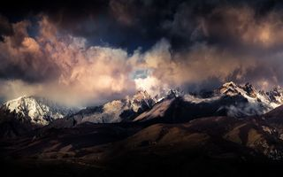 Обои clouds, the sky, The Himalayas, mountains, clouds