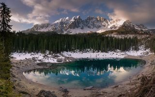 Обои Forest, Mountains, Lake, Nature, Italy