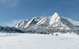 Картинка winter, flatirons, boulder, colorado