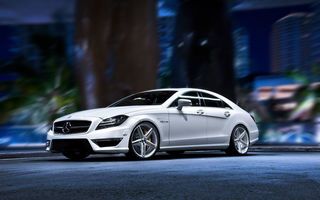 Картинка Mercedes benz cls, тюнинг, autowalls, мерседес, hd pictures, белый