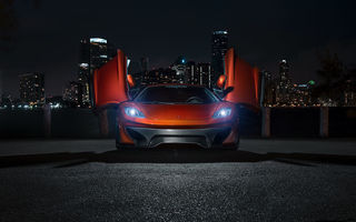Картинка Mclaren mp4-vx, mp4-12c, supercar, ночь, vorsteiner, макларен