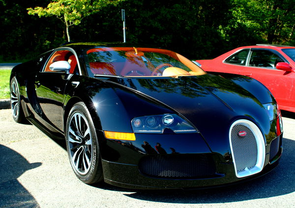 Обои Bugatti Veyron, black, car, Grand Sport, supercar