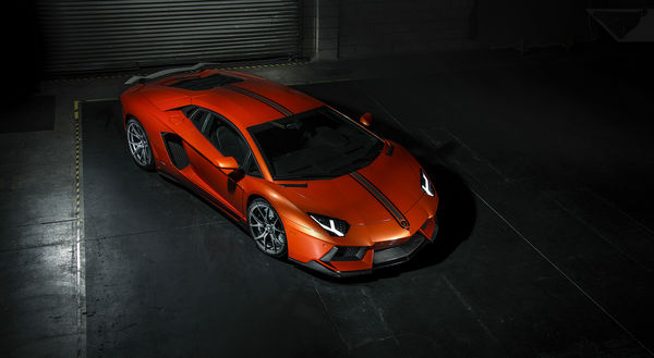 Обои Lamborghini, right, orange, ламборджини, Aventador, LP700-4, front, Vorsteiner, авентадор