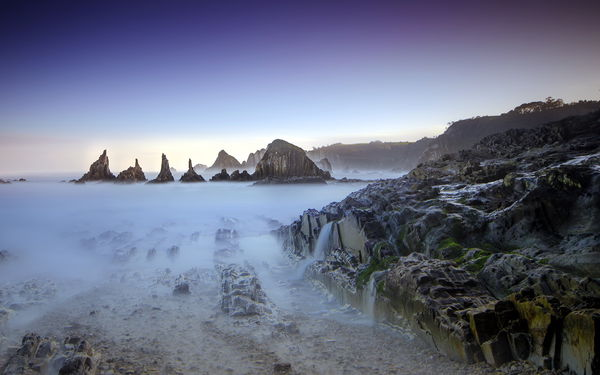 Обои landscape, long exposure, playa, Asturias, seaescape