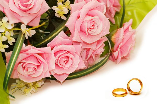 Букет цветов с днем свадьбы