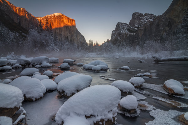 Обои Yosemite National Park, Frozen, Gates of the Valley