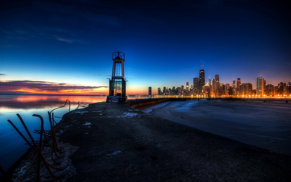 Обои United States, Illinois, Chicago, Gold Coast